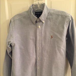 Boys Size 12 Ralph Lauren Button down shirt blue